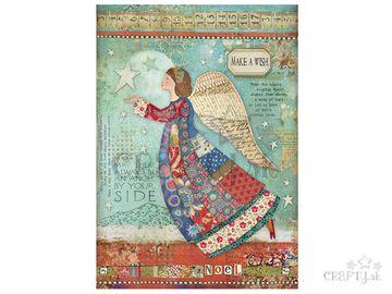 Ryžový papier A4 - patchworkový anjel