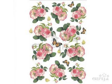 Ryžový papier A4 - šípové ruže