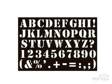 Šablóna 10x15cm - abeceda a čísla - tučná