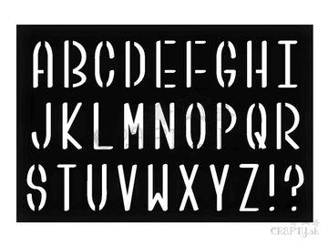 Šablóna 10x15cm - abeceda oblá