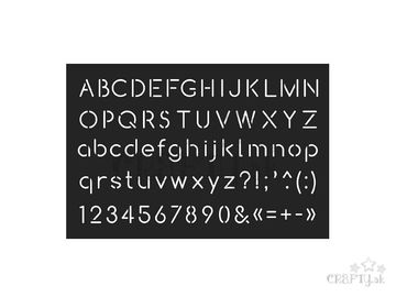 Šablóna 10x15cm - abeceda veľká a malá - oblá