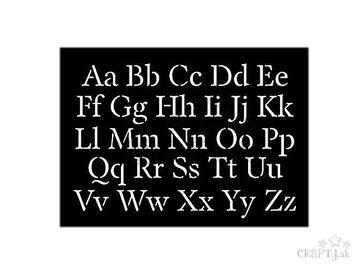 Šablóna 10x15cm - abeceda veľká a malá - strojová