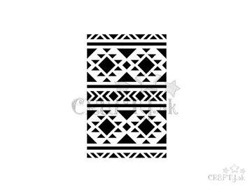 Šablóna 10x15cm - etno, indiánske vzory