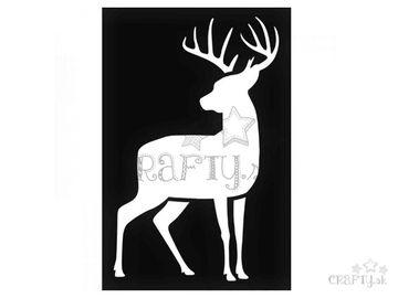Šablóna 10x15cm - jeleň