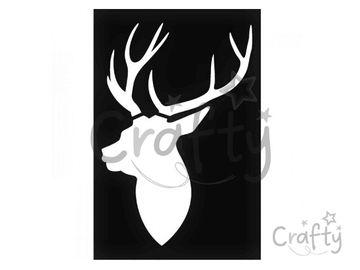 Šablóna 10x15cm - jelenia hlava