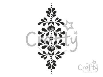 Šablóna 1/3 A3 - ľudový motív