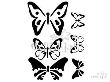Šablóna 15x20cm - motýle