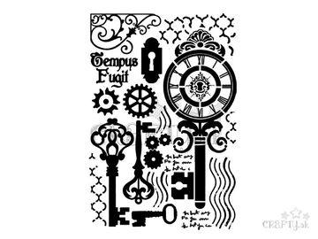 Šablóna A4 - abstraktné kľúče
