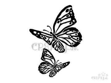 Šablóna A4 - motýle