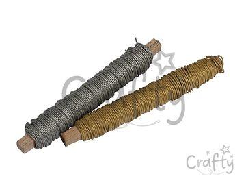 Sada 2ks metalických papierových drôtov 32m