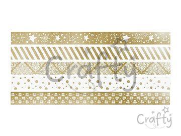 Sada mini washi pásiek s rollerom 5x3m - zlaté
