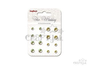 Sada nitov s brúseným štrasom - 16ks - For Wedding