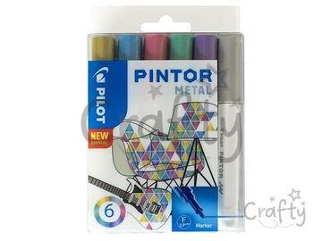Sada popisovačov PILOT Pintor F - Metal