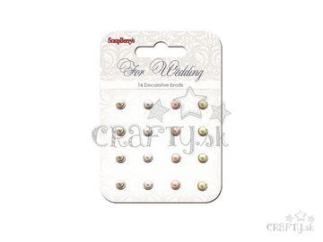 Sada vintage nitov - 16ks - perličky - For Wedding