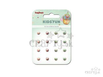 Sada vintage nitov - 16ks - perličky - Kids Fun