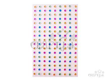 Samolepiace štrasy 171ks - ružový mix