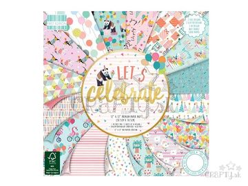 Scrapbookové papiere 48ks - Let's Celebrate