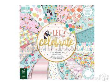 Scrapbookové papiere 48ks - Let's Celebrate