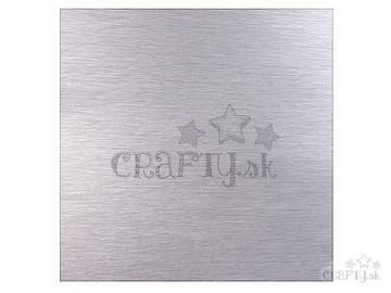 Scrapbookový papier metalický 30,5cm - matný strieborný