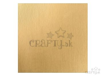 Scrapbookový papier metalický 30,5cm - matný zlatý