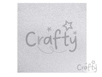 Scrapbookový papier metalický 30,5cm - trblietavý strieborný