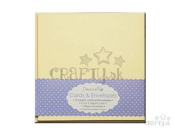 Set krémových obálok a kartičiek 15,2x15,2cm