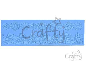 Silikónová vytláčacia forma - detailná - veľká kvetinová čipka