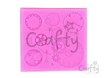 Silikónová vytláčacia forma - hodiny a ciferníky