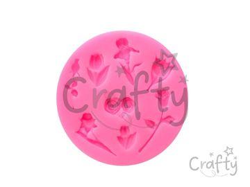 Silikónová vytláčacia forma - mix kvetov