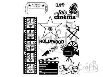 Silikónové pečiatky A5 - Hollywood