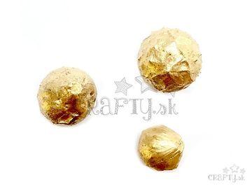 Sušené metalické orechy Dino 3ks - zlaté