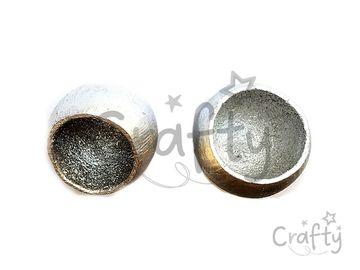 Sušený plod Bell cup metalický - strieborný