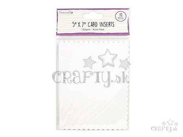 Vnútorné kartičky do pohľadníc 12,7x17,8cm - vlnky
