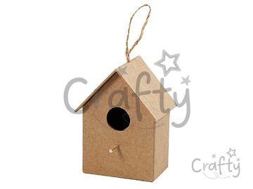 Vtáčia búdka z papier-mâché 10,5cm