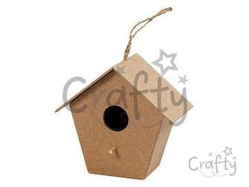 Vtáčia búdka z papier-mâché 10cm