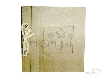 Zápisník s rámčekom z papier-mâché - 23x20cm