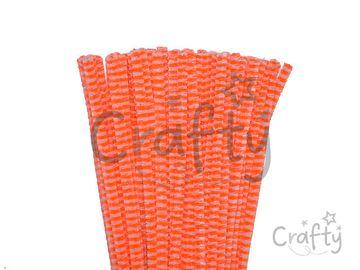Žinilkový drôt 6mm 30cm DUO - oranžový