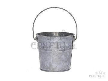 Zinkové vedierko s úchytom - 10cm