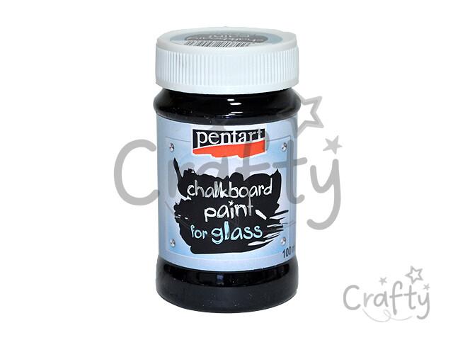 crafty.sk - Tabuľová farba na sklo 100ml - čierna e829ced7195