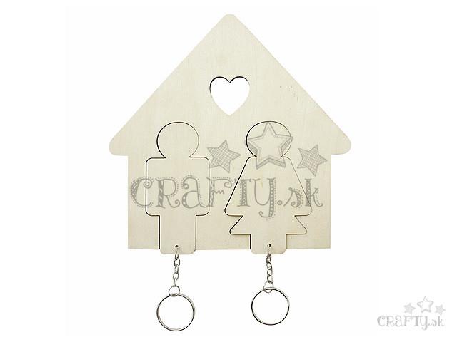 crafty.sk - Závesné drevené kľúčenky muž + žena - 2ks 51bf0c213c2